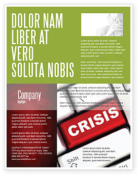 Crisis Button Flyer Template, 07410, Financial/Accounting — PoweredTemplate.com