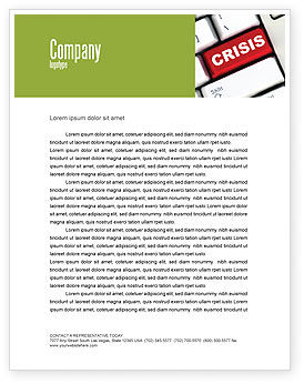 Crisis Button Letterhead Template, 07410, Financial/Accounting — PoweredTemplate.com