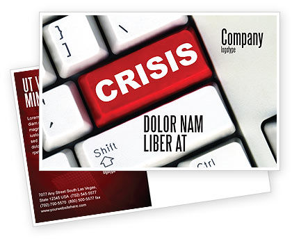 Crisis Button Postcard Template
