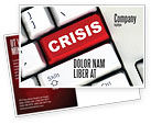 Financial/Accounting: Crisis Button Postcard Template #07410