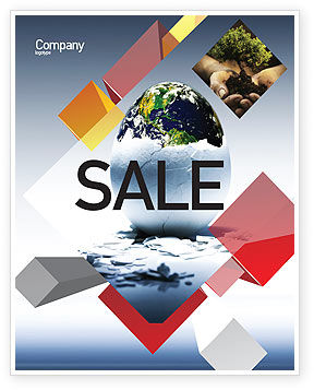 Business Concepts: Earth Egg Sale Poster Template #07439