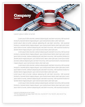 Main Link Letterhead Template, 07441, Consulting — PoweredTemplate.com