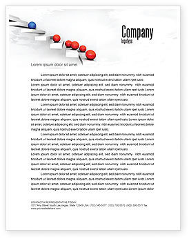 Higher And Higher Letterhead Template, 07450, Education & Training — PoweredTemplate.com