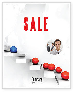 Education & Training: Higher And Higher Sale Poster Template #07450
