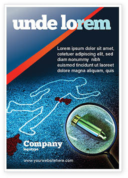 Crime Scene Investigation Ad Template, 07467, Legal — PoweredTemplate.com