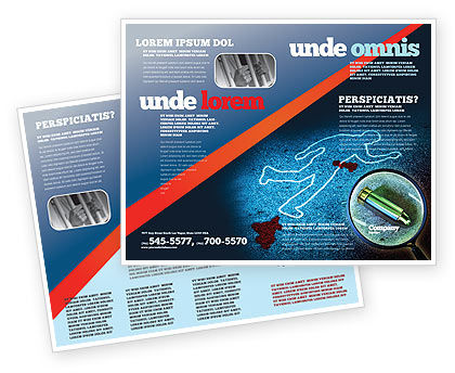 Crime Scene Investigation Brochure Template
