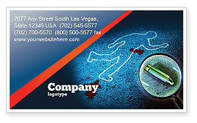 Crime Scene Investigation Business Card Template, 07467, Legal — PoweredTemplate.com