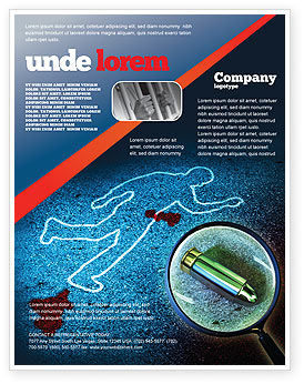 Crime Scene Investigation Flyer Template