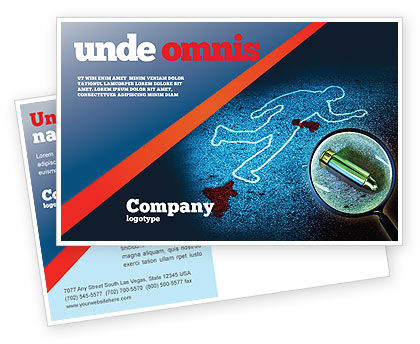 Legal: Crime Scene Investigation Postcard Template #07467
