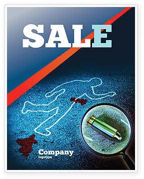 Legal: Crime Scene Investigation Sale Poster Template #07467