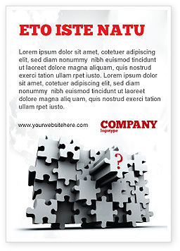 Consulting: 3 Dimensionale Puzzel Advertentie Template #07476