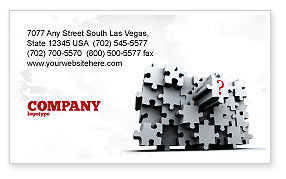 3 Dimensional Puzzle Business Card Template, 07476, Consulting — PoweredTemplate.com