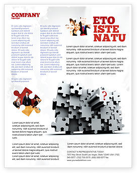Consulting: 3 Dimensional Puzzle Flyer Template #07476