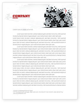 3 Dimensional Puzzle Letterhead Template, 07476, Consulting — PoweredTemplate.com