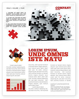 Consulting: 3 Dimensional Puzzle Newsletter Template #07476
