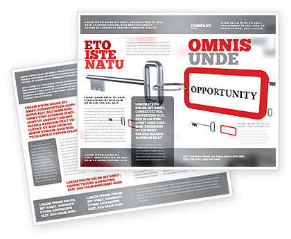 Key Opportunity Brochure Template, 07495, Consulting — PoweredTemplate.com