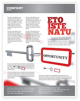 Key Opportunity Flyer Template, 07495, Consulting — PoweredTemplate.com