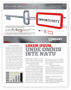 Key Opportunity Newsletter Template, 07495, Consulting — PoweredTemplate.com