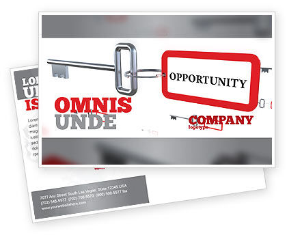 Key Opportunity Postcard Template, 07495, Consulting — PoweredTemplate.com