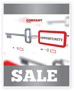 Consulting: Key Opportunity Sale Poster Template #07495
