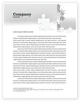 Consulting: Tower Of Puzzle Letterhead Template #07496
