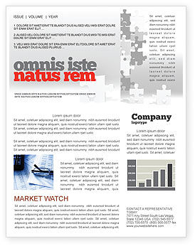 Consulting: Tower Of Puzzle Newsletter Template #07496