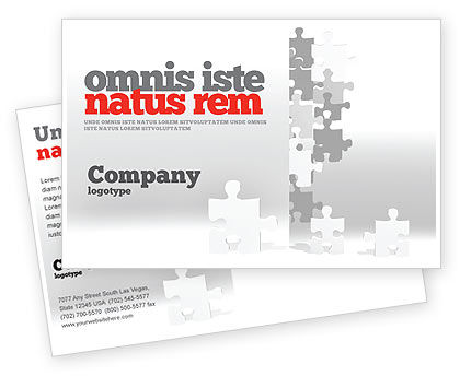 Consulting: Tower Of Puzzle Postcard Template #07496
