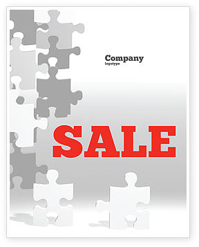 Tower Of Puzzle Sale Poster Template