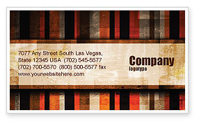 Abstract Bars Business Card Template, 07512, Abstract/Textures — PoweredTemplate.com