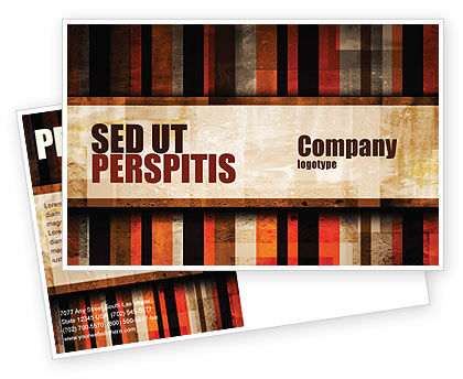 Abstract/Textures: Abstract Bars Postcard Template #07512