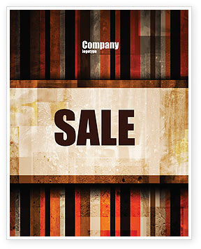 Abstract Bars Sale Poster Template, 07512, Abstract/Textures — PoweredTemplate.com