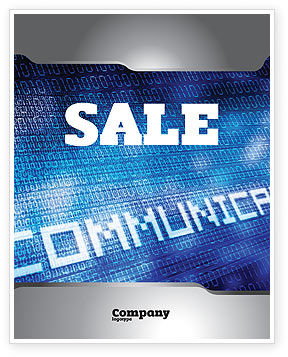 Telecommunication: Communication Stream Sale Poster Template #07535
