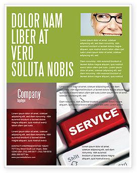 High-Tech Service Flyer Template, 07549, Careers/Industry — PoweredTemplate.com
