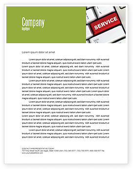 High-Tech Service Letterhead Template, 07549, Careers/Industry — PoweredTemplate.com
