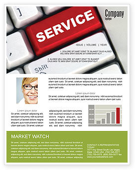 High-Tech Service Newsletter Template, 07549, Careers/Industry — PoweredTemplate.com