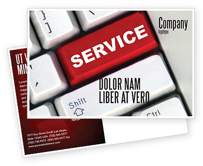 High-Tech Service Postcard Template, 07549, Careers/Industry — PoweredTemplate.com