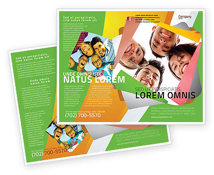 Students Team Brochure Template, 07551, Careers/Industry — PoweredTemplate.com