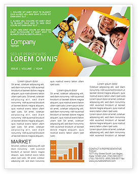 Students Team Newsletter Template, 07551, Careers/Industry — PoweredTemplate.com