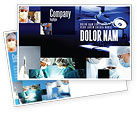 Medical: Operation Room In Dark Blue Postcard Template #07560