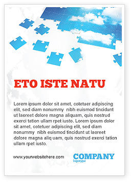 Consulting: Sky Puzzel Advertentie Template #07563