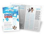 Consulting: Himmel puzzle Broschüren Vorlage #07563