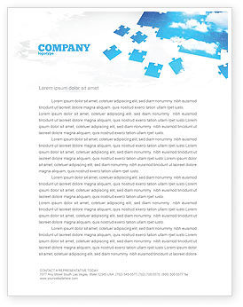 Sky Puzzle Letterhead Template, 07563, Consulting — PoweredTemplate.com