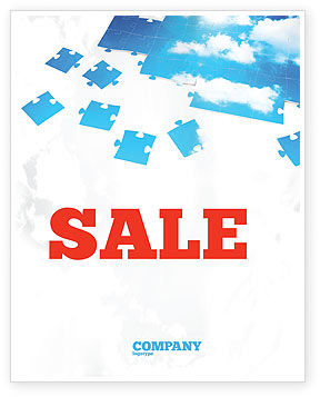 Sky Puzzle Sale Poster Template, 07563, Consulting — PoweredTemplate.com
