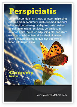 Technology, Science & Computers: Solar Power Ad Template #07566