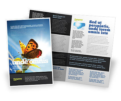 Solar Power Brochure Template, 07566, Technology, Science & Computers — PoweredTemplate.com