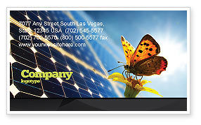 Technology, Science & Computers: Solar Power Business Card Template #07566