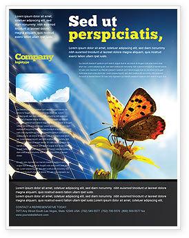 Technology, Science & Computers: Modèle de Flyer de énergie solaire #07566
