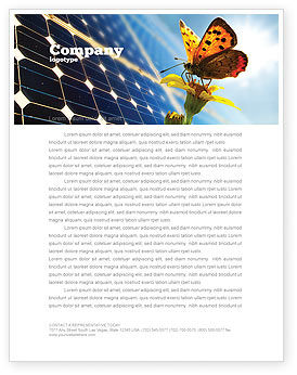 Technology, Science & Computers: Solar Power Letterhead Template #07566