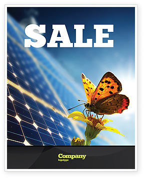 Solar Power Sale Poster Template, 07566, Technology, Science & Computers — PoweredTemplate.com