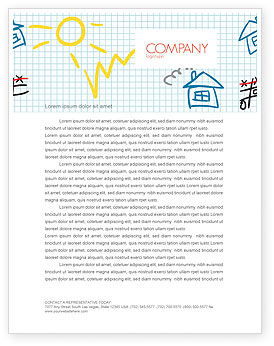 Education & Training: Childish Creation Letterhead Template #07572